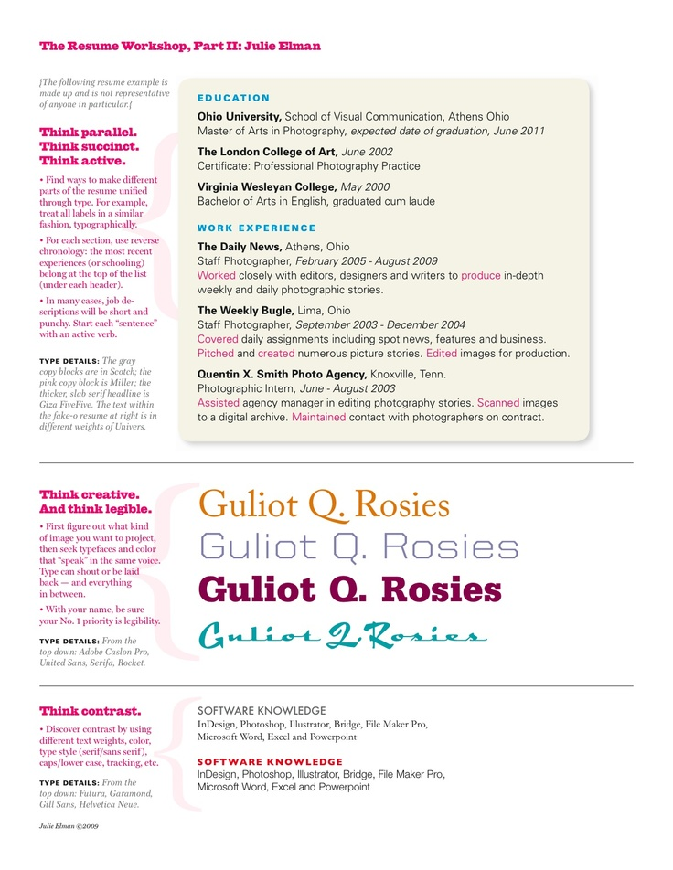 images about Resume Editing on Pinterest The Visual Student  Resume Part