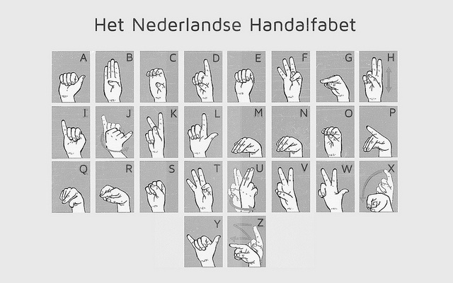Het Nederlandse Handalfabet  Sign Language Language And Deaf Culture