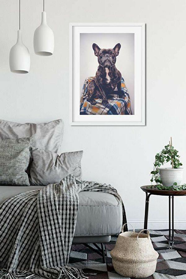popular cute and funny bulldog wall art charming art home decor rh pinterest com