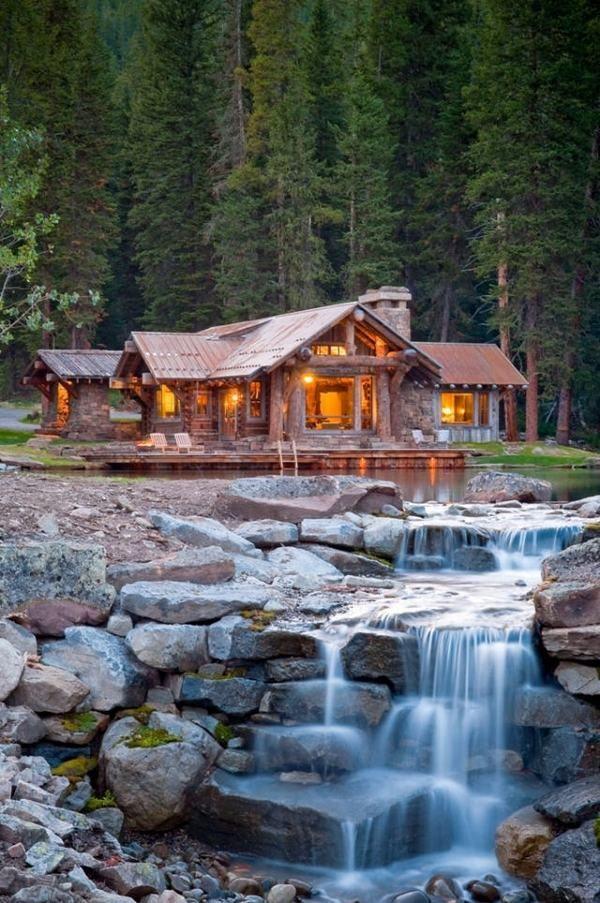Rustic mountain cabin retreat in Big Sky - Headwaters Camp, Dan Joseph Architects. Someday...