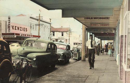 Main street, Upper Hutt, 1950s