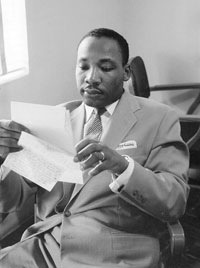 Martin Luther King, Jr. and the Montgomery bus boycott.