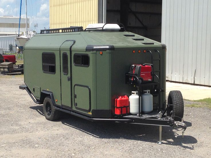 army Teardrop Trailer  | ADAK Adventure Trailer – Could be an Off-Road Micro Home?