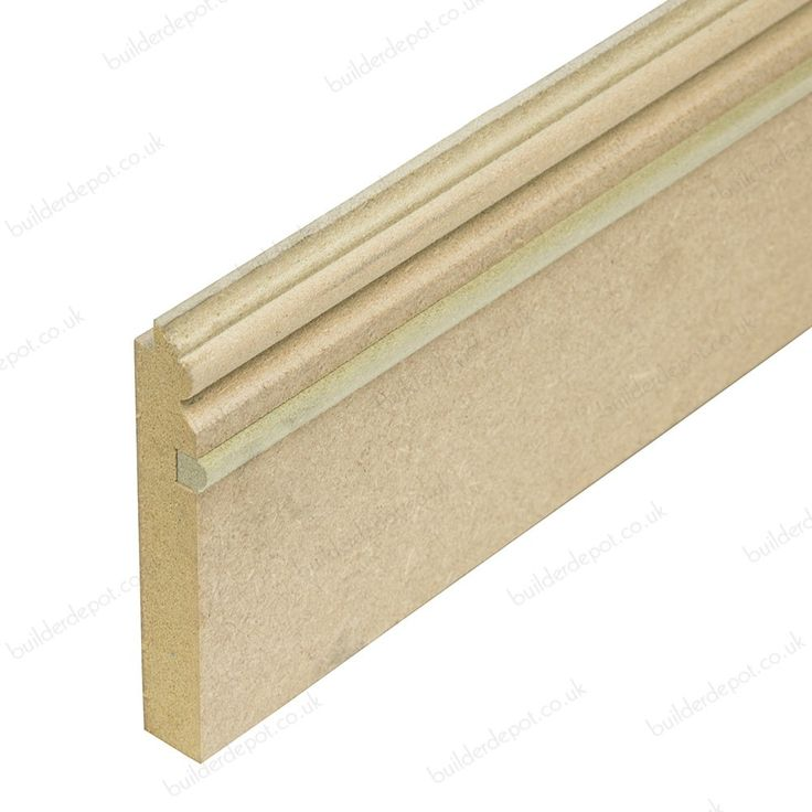ANNA: - Matchboard Moisture Resistant MDF Skirting Board 18mm x 111mm x 2440mm