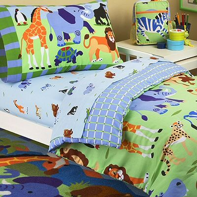 Jungle Bedding For Kids Jungle Safari Animals Toddler Boy Bedding 4pc Comforter Set Bed In A