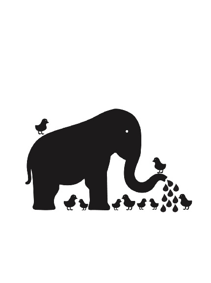 WallCandy Arts Chalkboard Baby Elephant Wall Decal Kit at MYHABIT!!!