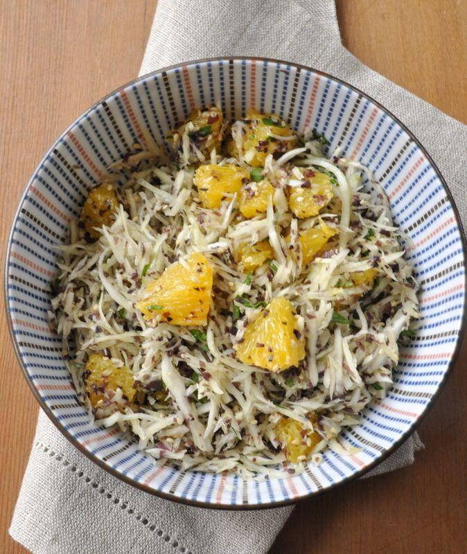 Salade chou blanc orange algues-001
