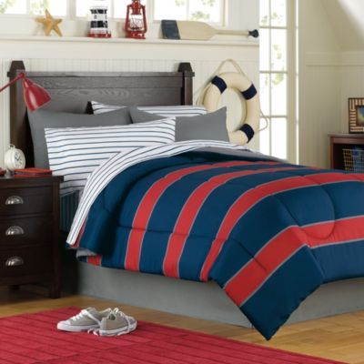 rugby comforter and sheet set for hunter 39 s new bed and new room paint. Black Bedroom Furniture Sets. Home Design Ideas