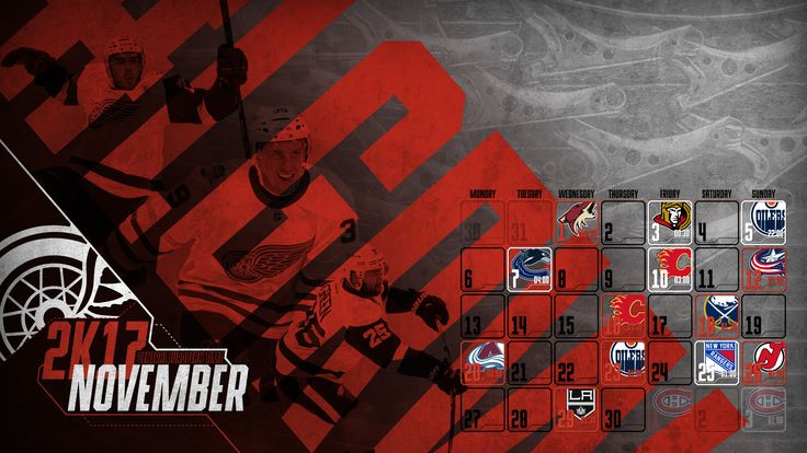 Schedule Wallpaper for the Detroit Red Wings Regular Season 2017. Game times are CET. Made by Gergő Tobler, aka TGer's DIY #tgersdiy #LGRW