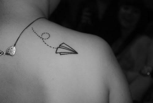 Cute delicate tattooTattoo Ideas, Paper Airplanes, Airplanes Tattoo, A Tattoo, Tattoo Ink, Paper Planes, Tatoo, Cute Tattoo, Travel Tattoo