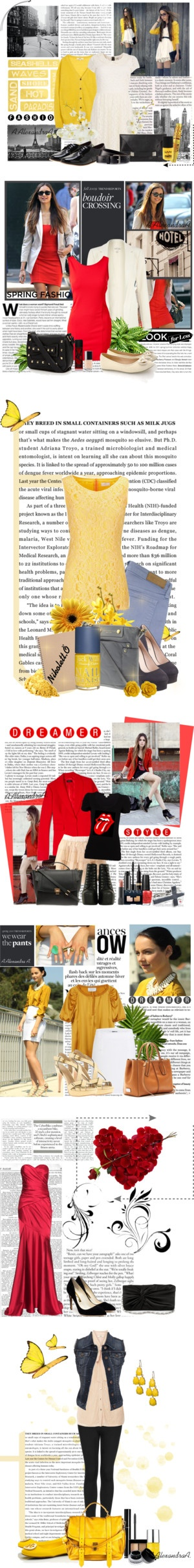 """""""Red and yellow...."""" by szansza ❤ liked on Polyvore"""