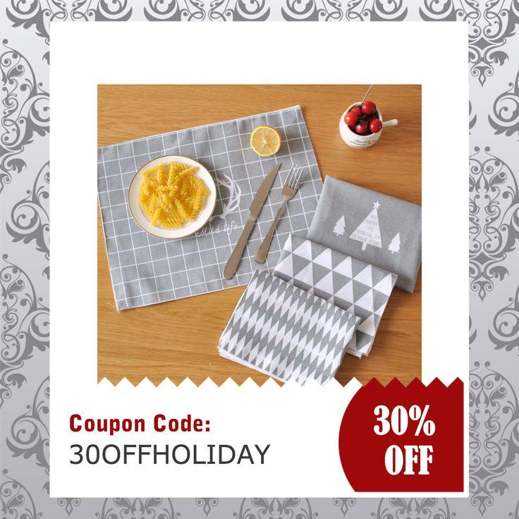 Cotton Insulation Pad  #christmas #tablecloth #dinning #nordic #scandinavian