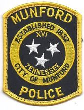 **MUNFORD TENNESSEE POLICE PATCH**