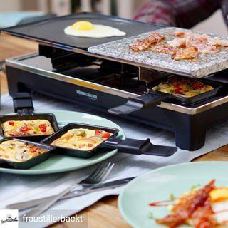 Was für leckere Ideen!Bei @fraustillerbackt wird mit dem Raclette gefrühstückt. Das müsst ihr euch unbedingt ansehen: .@Regran_ed from @fraustillerbackt – ?Werbung?Mit einem Raclette kann man nur herzhafte Käse-Pfännchen am Abend zubereiten? Nein! Natürlich nicht! Wie wäre es alternativ mal mit einem Raclette-Frühstück? ????Eier, Bacon, Pancakes… oder Käsetoast. Mit der Family gemeinsam am Tisch alles zuzubereiten ist wirklich ein richtig großer Spaß. Was genau ich gemacht habe und w