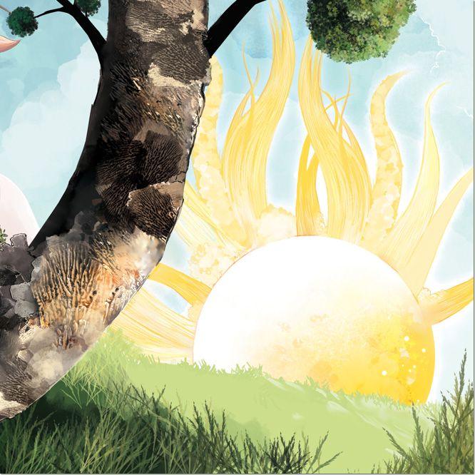 Oak with Sun
