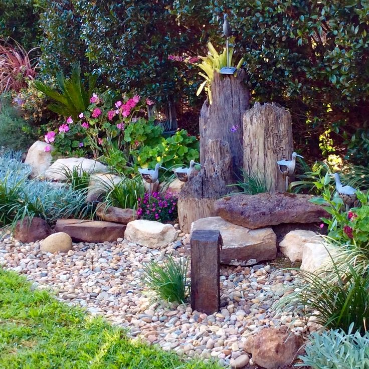 Dry creek garden idea