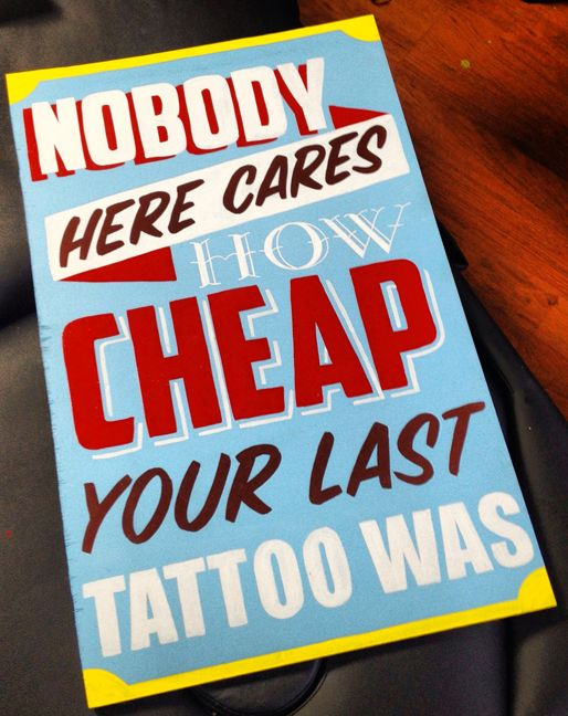 hand painted tattoo sign | Hand Painted Signs Reverse ...