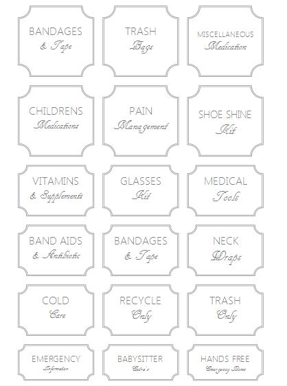 Free All Purpose Storage Pantry Labels