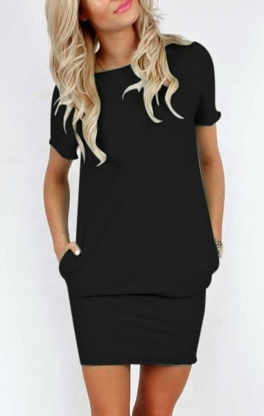 cute black pocket dress
