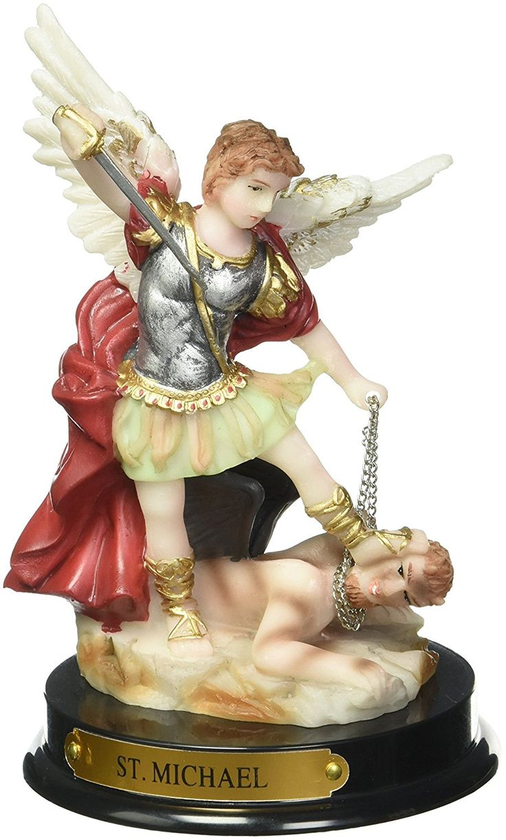 5inch saint michael the archangel holy figurine check