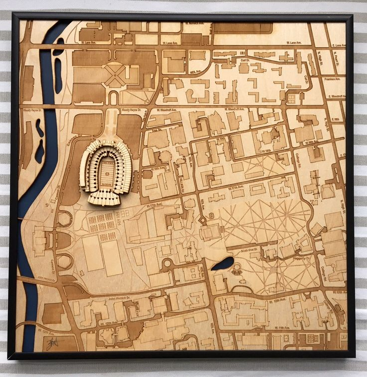 StadiumMapArt laser engraved a map of the