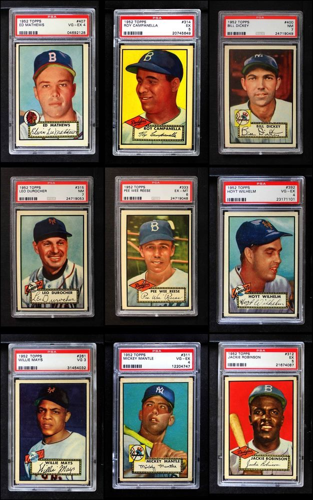 1952 Topps Baseball Complete Set Premier Ex Sports Collectibles