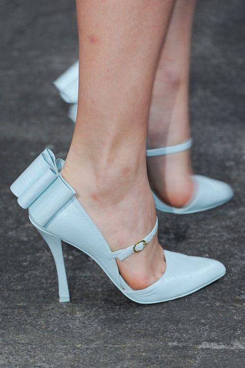 ♥♥♥Baby Blue, Fashion Weeks, Wedding Shoes, Blue Shoes, New York Fashion, Something Blue, Christian Siriano, Spring 2013, Siriano Spring