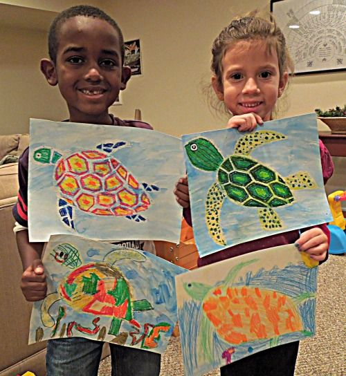 Sea Turtles: A Movie and a Craft. Nice nature documentary for kids and then tie in with the art project.