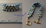 Netted Bracelet - Wide Version by ~beadg1rl on deviantART