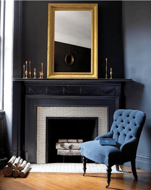 black-fireplace-mantels  love this smart sexy vignette and fireplace ...