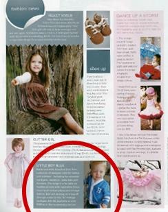 In My Child Magazine - Winter 2009