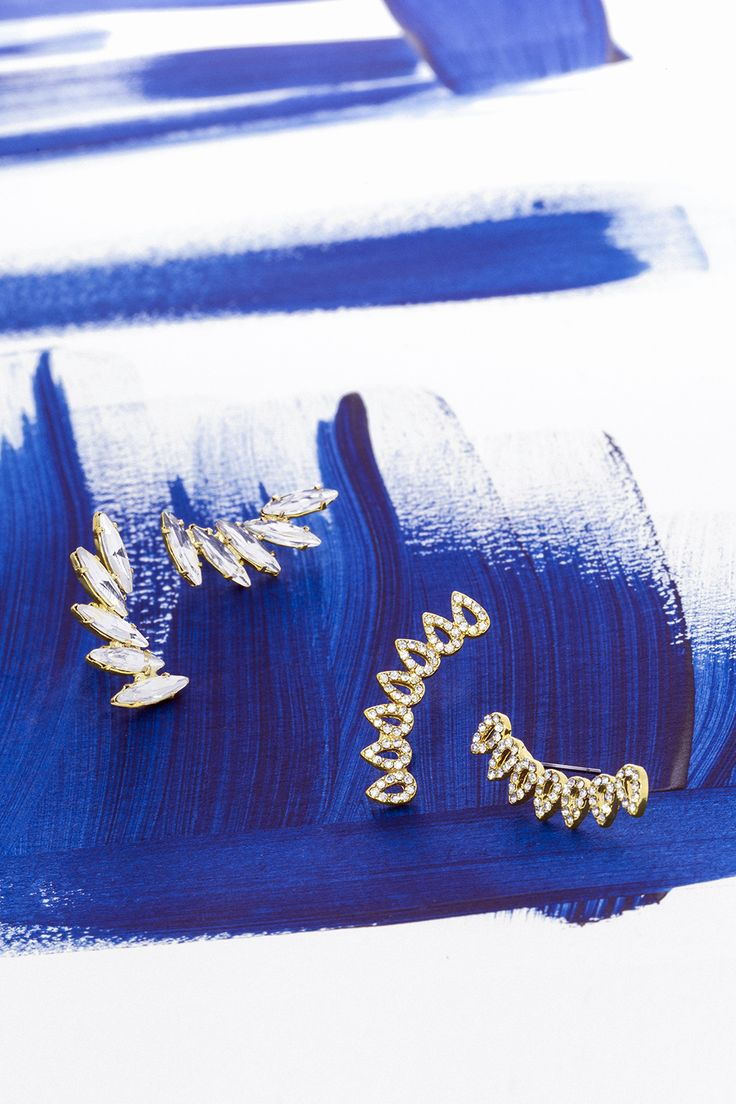 Time to graduate from simple studs, try a pair of ear crawlers to kick your earring game up a notch.