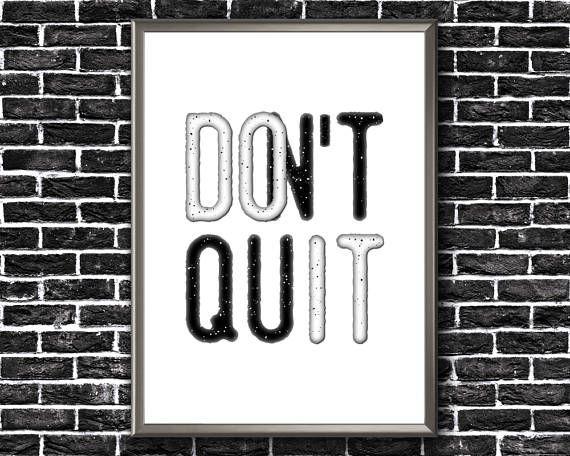 Motivational Wall Decor  Don't Quit  Do It