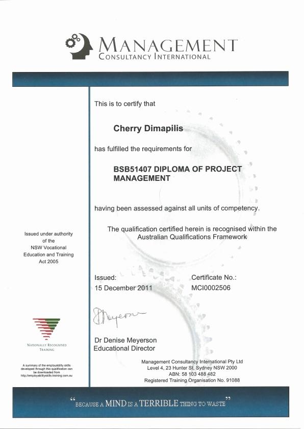 Project Management Diploma http//www.cait.edu.au