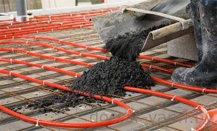Монтаж под бетонное покрытие