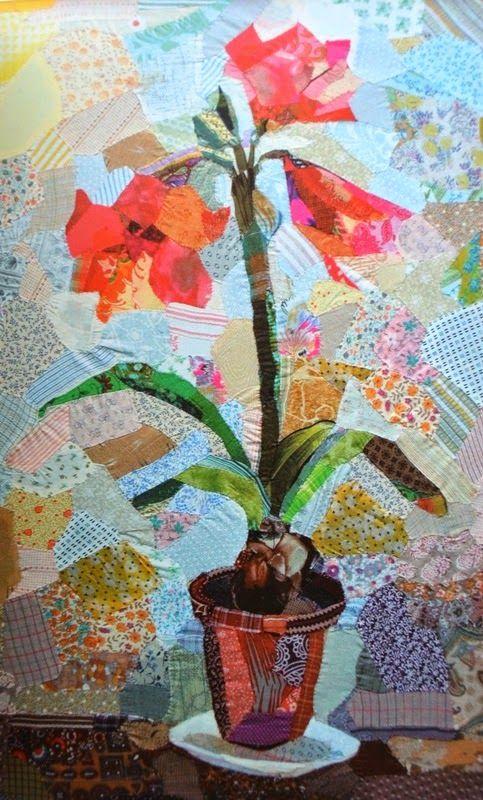 365 дней с арт-текстилем: Edrica Huws - картины лоскутками