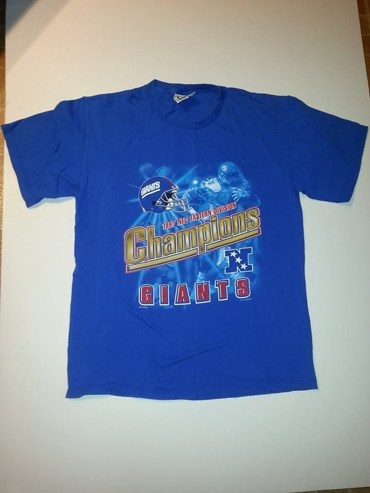Vintage New York Giants Football T-Shirt NFL NFC Eastern Division Champions  1997 6f6bf2551
