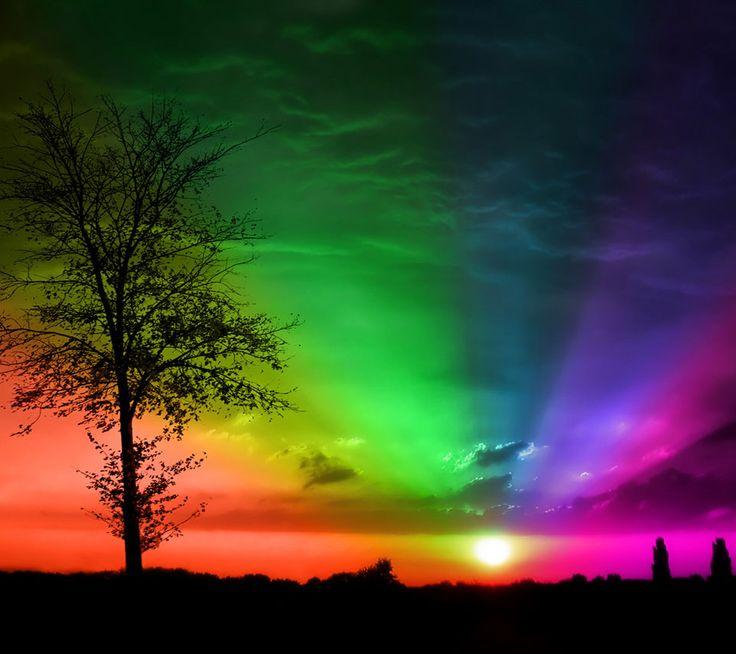 neon rainbow sky | Rainbow! | Pinterest
