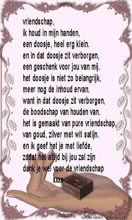 Vriendschap!