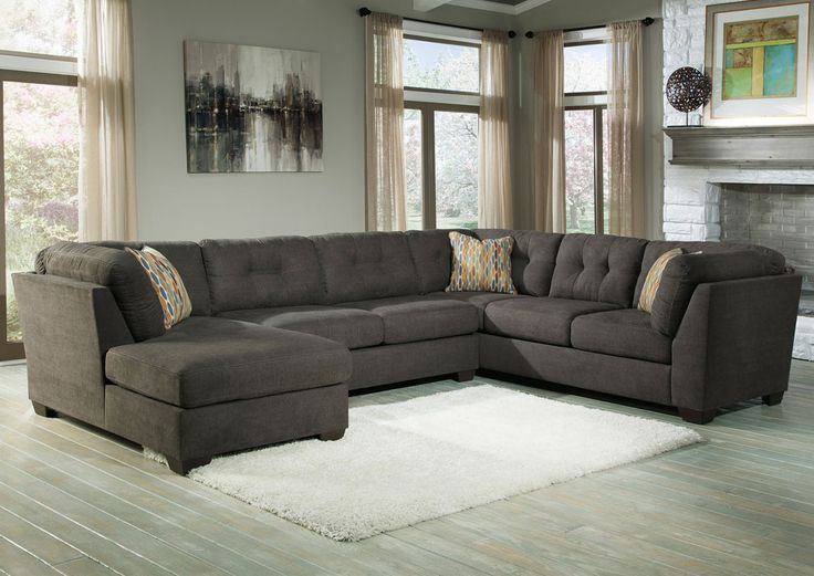 LAF Chaise Sectional By Ashley Furniture. Get Your Delta City   Steel 3 Pc.  LAF Chaise Sectional At Minnesota Warehouse And Amish Furniture, ...