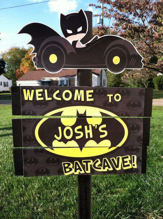 Outdoor party sign that invites your friends at the front door or driveway. Sign is handmade from wood and stands 36 high. The picture is on 3 pieces of wood that is spaced a bit between each piece.  ASSEMBLY IS REQUIRED, Instructions and hardware included.