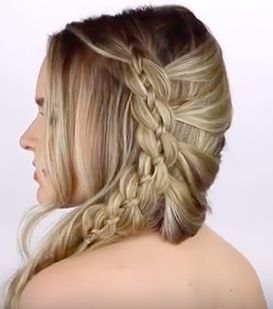 4 Strand Lace Braid Hairstyle Tutorial #hairstyletutorial
