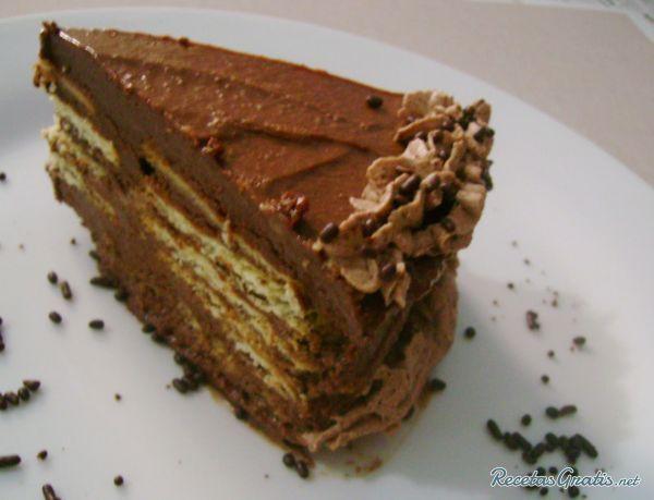 Marquesa de chocolate con ron