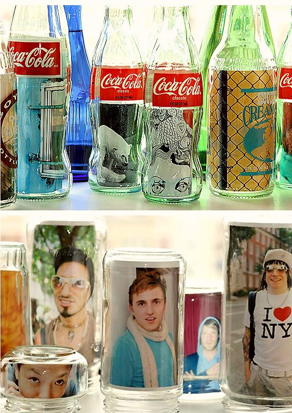 diy photograph jar centerpieces