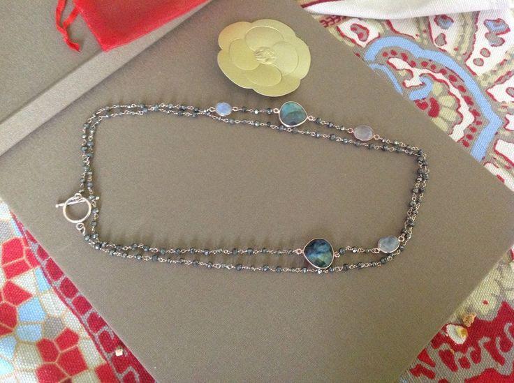 Collana in argento rosato e labradorite, by GIOBijoux, 60,00€ su misshobby.com