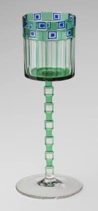 Goblet for the Wiener Werkstatte, 1905, Otto Prutscher. Museum of Modern Art, NYC.
