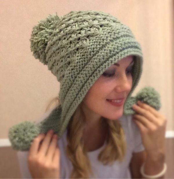 шапка - капор теплая шерстяная - Евгения - Ярмарка Мастеров