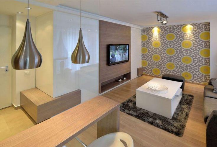 Kis lakás - modern, elegáns lakberendezés nagyon kicsi alapterületen