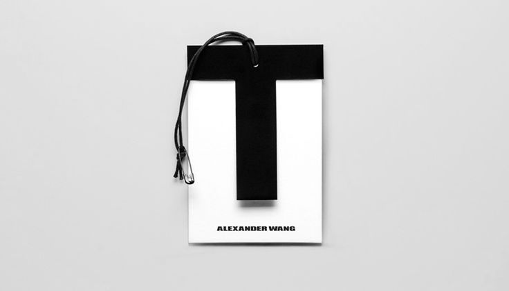 T by Alexander Wang swing tag. Li, Inc. Art Direction and Design