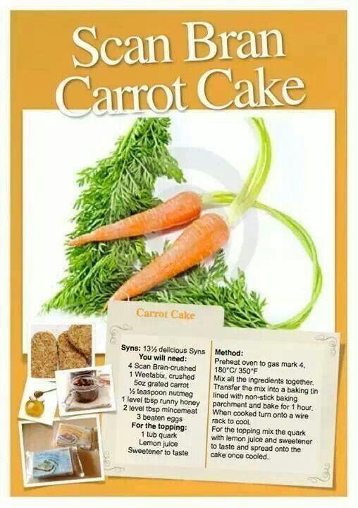Scan Bran Carrot Cake